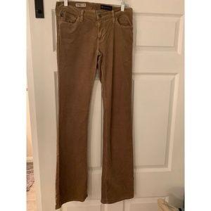 AG Tan Corduroy Bootcut Jeans